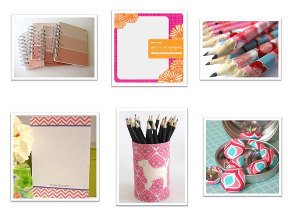 pink office products
