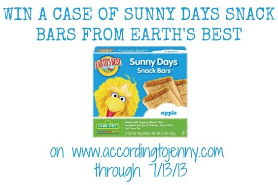sunny days snack bars giveaway - travel friendly snacks