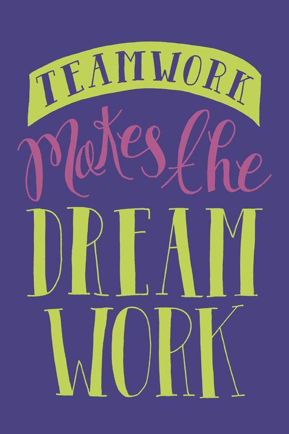 Teamwork, Motivational monday and Dreams on Pinterest