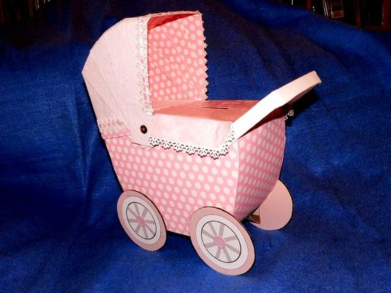 Baby Gift Box Empty : Baby buggy gift card holder this was made for princess