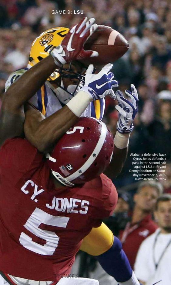 Cyrus Jones defends LSU pass. Bama 30 LSU 16 in 2015 | from the Tuscaloosa…