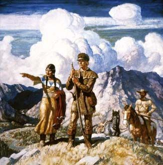 A painting of Sacagawea showing the way forward.
