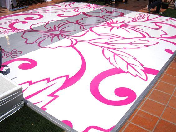 Dance Floor Design For A Hawaiian Themed Wedding Created