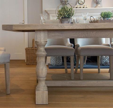 Montague Large Weathered Oak Rectangular Dining Table Dining
