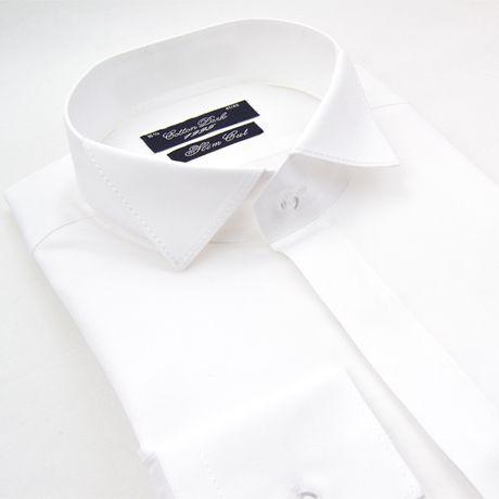 Chemise col cassé blanche cintrée Cotton Park - Kadice