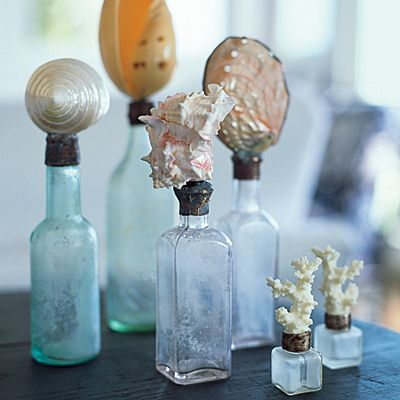 12 creative ways to decorate with shells glass bottles