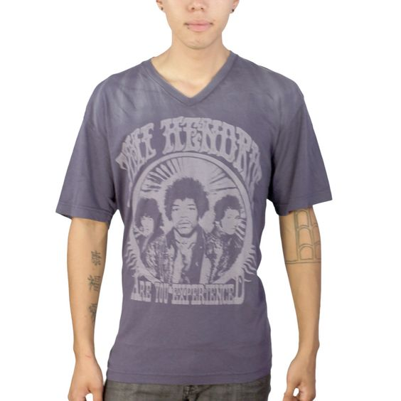 Jimmy Hendrix Are You Experienced Blue V-neck
