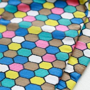 Image of Vintage Hexagon Print fabric Fat Quarter - Colourful!   $8.00 from My Poppet