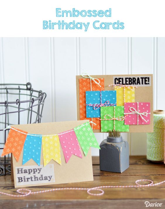 Handmade Birthday Cards Step by Step Darice – Make a Birthday Card with Your Own Photo