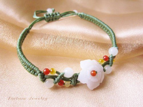 $24.99 White Blossom Flower Jade Bracelet - Jade Jewelry by Fortune Jewelry & Healing Beauty, http://www.amazon.com/dp/B009CF5GGW/ref=cm_sw_r_pi_dp_IMtLrb0QX9M2K