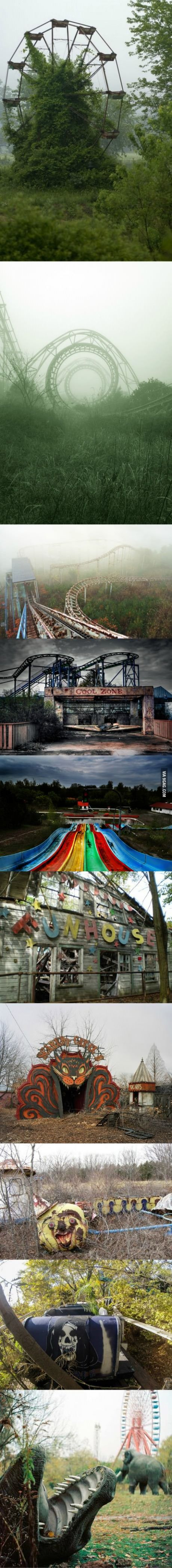 Beautiful and creepy abandoned amusement parks.