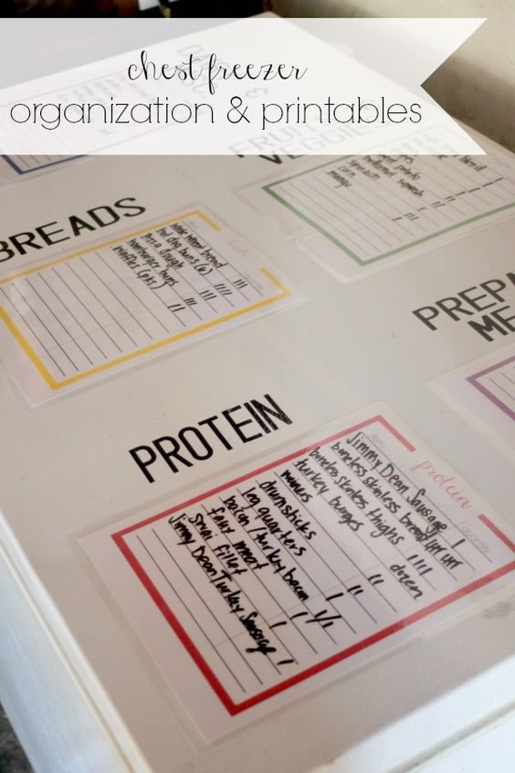 [ad] Get your freezer organized for back to school to make morning and evening routines a breeze! Free Printables too! #ReimagineYourRoutine #freeprintables #backtoschool #organization