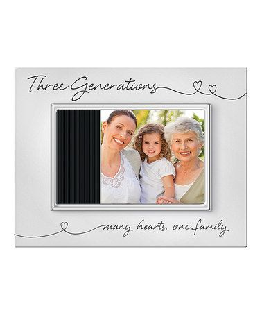 take a look at this silver from the heart three generations picture frame by