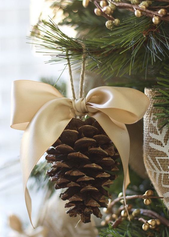 She Gathers Pine Cones From Her Yard And Turns Them Into Something Breathtaking http://www.wimp.com/diy-winter-pine-cone-crafts/