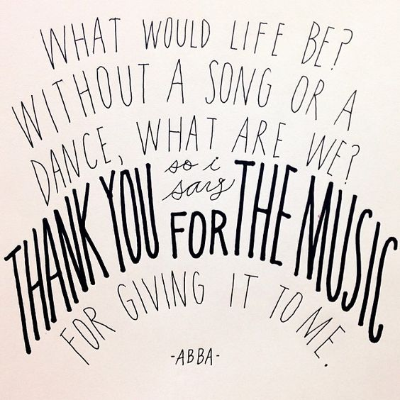 Thank you for the music | hand lettering by Sycamore Street Press