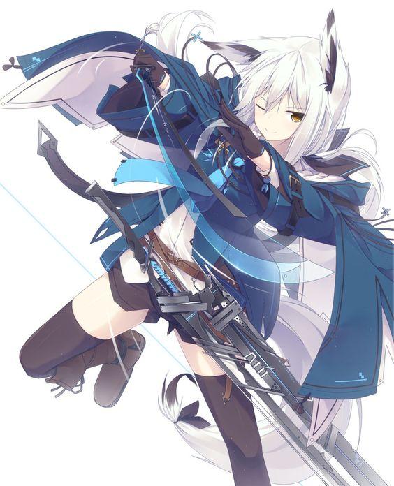 White Kitsune Fox Girl