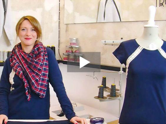 In Deinem Schrank stapeln sich die einfarbigen Shirts und Pullover? Dann hole diese doch hervor und zaubere Dir daraus schöne neue Spitzenshirts. Im Video zeigt Dir Jana Schritt für Schritt wie's geht.