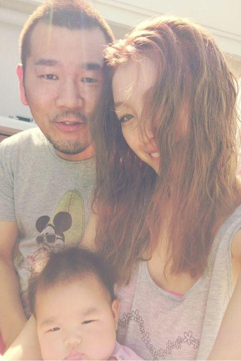 木下優樹菜親子三人でかわいいママ画像