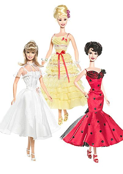 Prom dresses from Grease~Sandy, Frenchy & Rizzo   Barbie ...