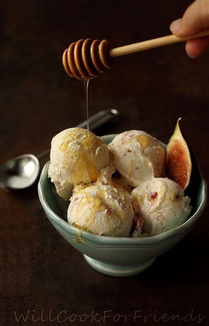 Honey'd Fig Goat Cheese Ice Cream: