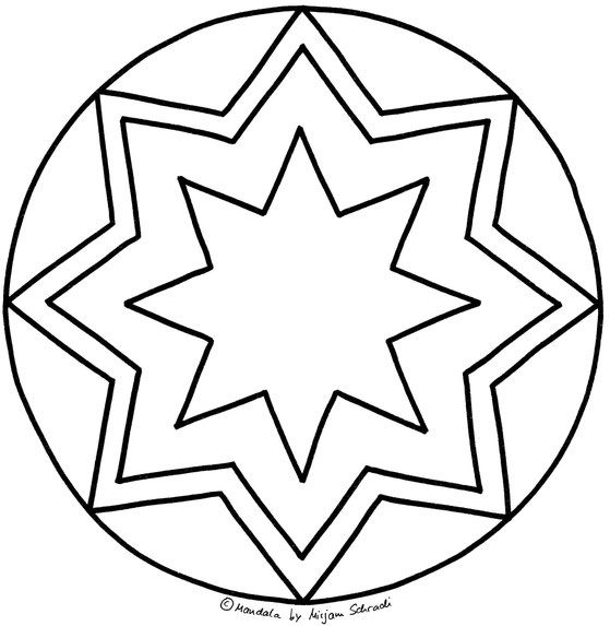 Stern Mandalas Zum Ausdrucken Ausmalen Für Kinder