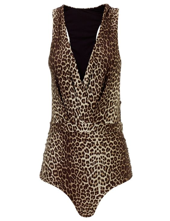 Leopard Tuck Instinct Swimsuit / Zimmermann