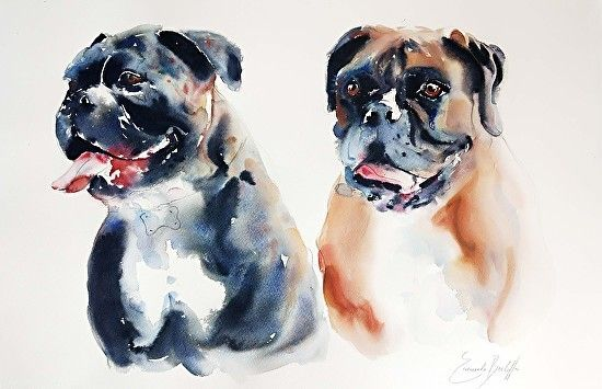 Emanuele Berlaffa Our Best Friends Watercolor Painting Entry