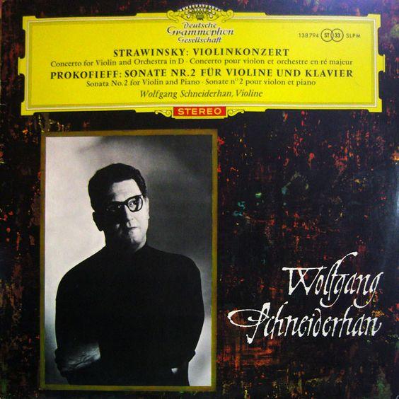 Strawinsky Violinkonzert in D – Prokofieff Violinsonate Nr. 2 Op. 94 – Wolfgang Schneiderhan