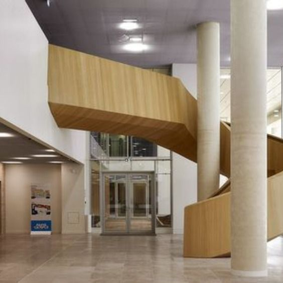 Modern Wooden Staircase Design I Eestairs Quadri Fiore Novartis Pharma Rueil Malmaison Fr Staircase Design Wooden Staircase Design Wooden Staircases