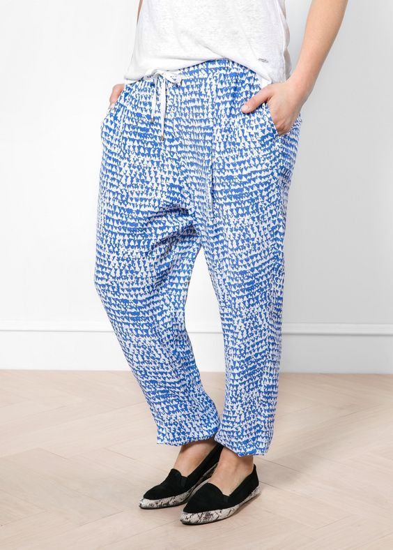 Bedruckte Baggy Pants
