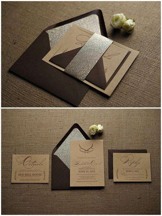 goldene hochzeit inspiration-stylish, glänzend und romantisch, Einladungsentwurf