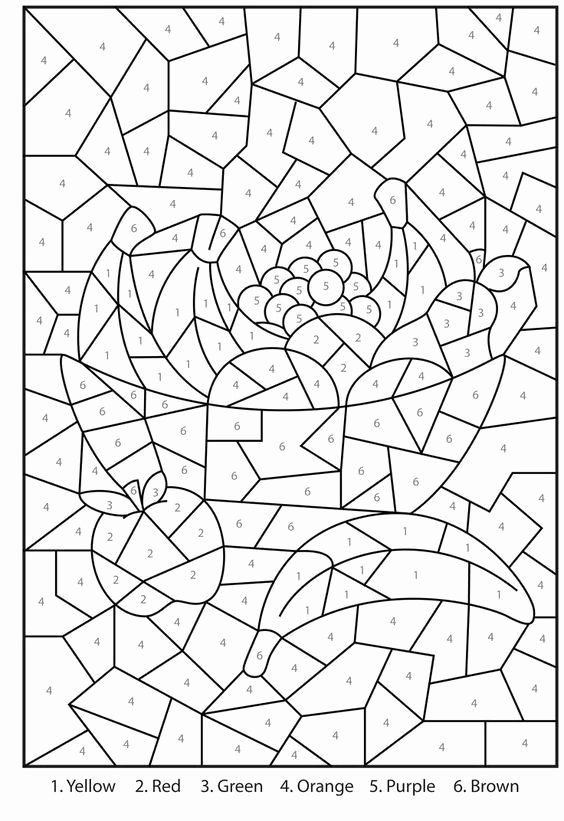Coloring By Numbers For Adults Fresh Pin On Color By Numberletter Free Online Coloring Color By Number Printable Online Coloring Pages