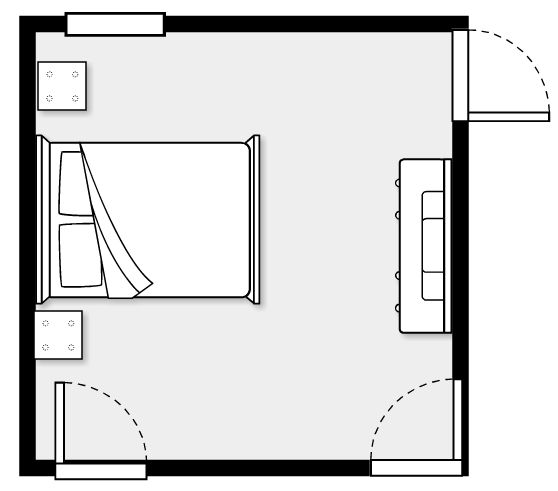 bedroom furniture layout. This website lets you enter the dimensions of your rooms furniture and  design room layouts Home Inspiration Pinterest Design