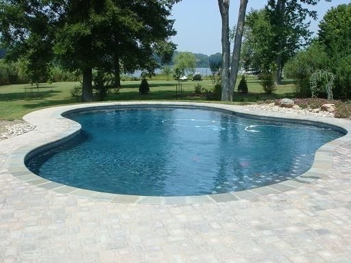 simple is sometimes better! A basic pool shape will create a sense ...