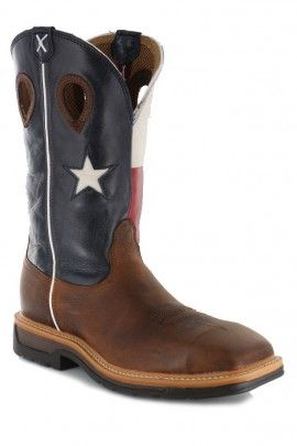 Twisted X Lite Cowboy Flag Steel Toe Work Boots