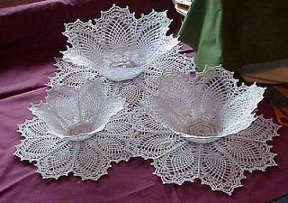 TRICO y CROCHET-madona-mía: Como endurecer una pieza tejida a crochet