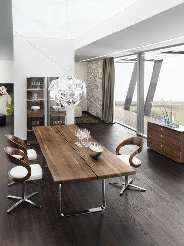 Modern interior design and home decorating ideas celebrating natural wood beauty modern dining - Stylish modern dining sets for neutral toned interior ...