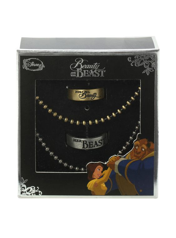 Christmas Stocking Stuffer of the day: Disney Beauty And The Beast his and hers ring set