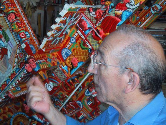 Sr. Giuseppe Ducato, cart painter extraordinaire