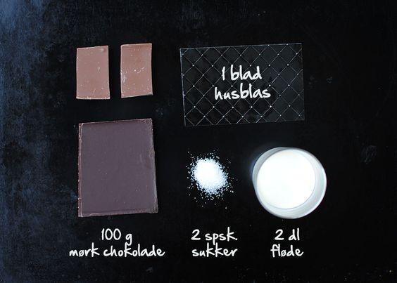 Chocolate pannacotta for dummies! [in Danish]