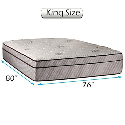 Dream Solutions Usa Fifth Ave Eurotop Pillowtop Plush Extra Soft King Mattress Only With Mattress Cover Protector Pillow Top Mattress Soft Mattress