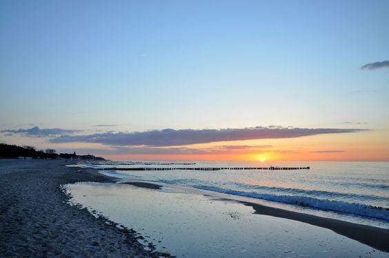 Sonnenuntergang in Kühlungsborn / sunset at Kuehlungsborn beach, Baltic Sea coast