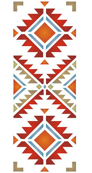 Navajo Four Corners Stencil