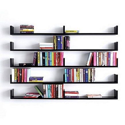 Wall shelves for books