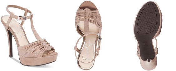 Jessica Simpson Bassie Ruched T-Strap High-Heel Platform Sandals - All Women's Shoes - Shoes - Macy's