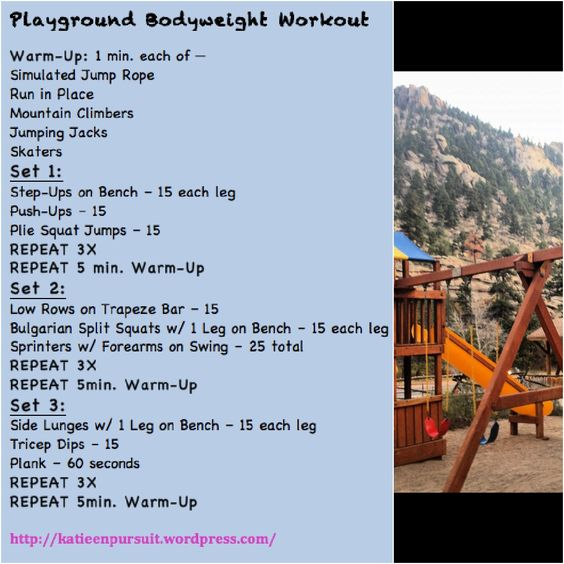 Playground Workout...do it anywhere.  Embrace you inner child  #FitFluential #getafterit