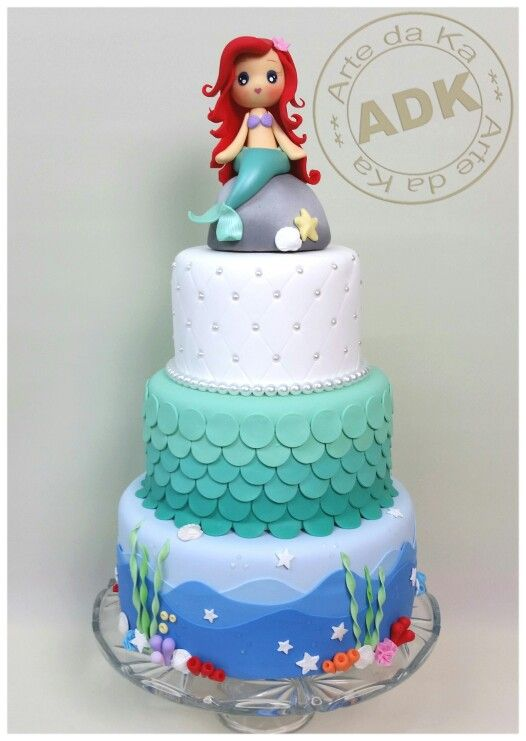 Birthday Cake Ideas Mermaid : The Little Mermaid cake My Work Pinterest Birthdays ...