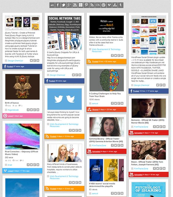 Social Media Feed wordpress