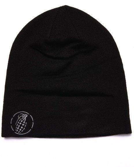 Grenade #SlouchBeanie Knit Hat Embroidered Logo One Size OSFM #Grenade #Beanie