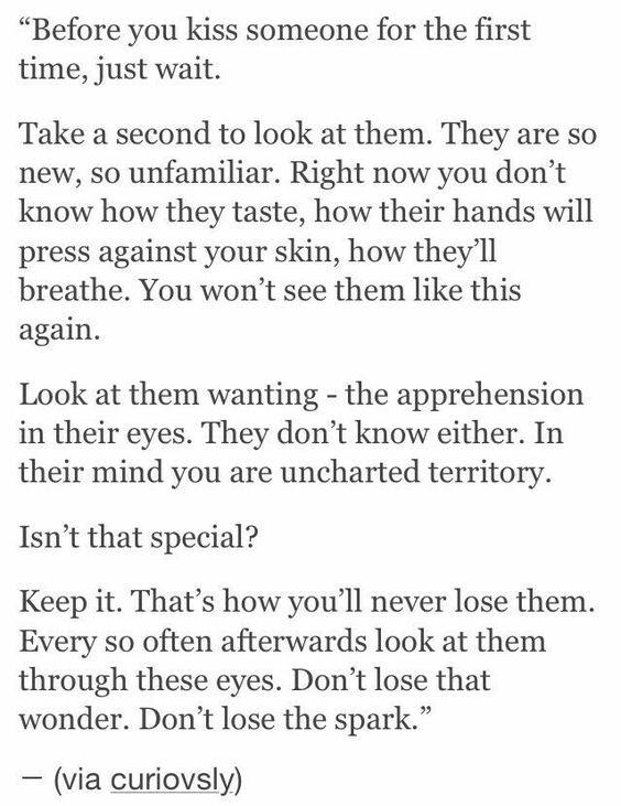 ways someone kiss youre
